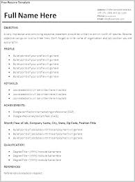 Summer Job Resume Template College Student Examples Objective For A
