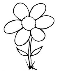 Simple Flower Coloring Pages Kids