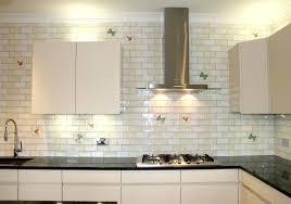 white glass subway tile kitchen backsplash white glass subway tile