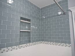 lush 3x6 glass subway tile installations eclectic bathroom