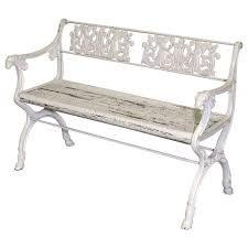 late 19th century victorian cast iron garden bench with wooden