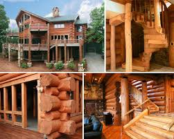 Mountain Style Rustic Vacation Home Made of Eastern White Pine