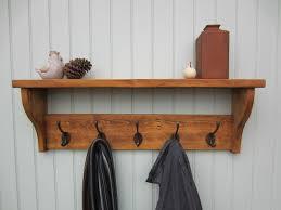 Wall Coat Racks With Shelf Brilliant Rustic Hooks Rack FABRIZIO Design Look Regarding 10