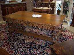Oak Winged Griffin Partners Desk from robertsantiques on Ruby Lane