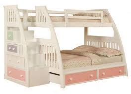 monahan twin over full stairway bunk beds