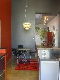 Red Accent Tables Table Kitchen Modern With Circular Dining Wall