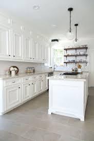 tiles modern white kitchen with concrete floor all white kitchen