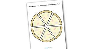 Make Your Own Pizza Instructions Sheet