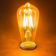 st18 led filament bulb gold tint vintage light bulb 35 watt
