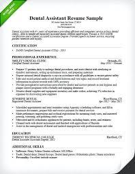 Sample Resume For Administration Dental Assistant Tips Genius General Manager