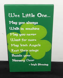 Winnie The Pooh Nursery Decor Ireland by Hand Painted Irish Blessing For Nursery Find More Items On My