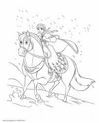 Anna Ride A Horse Coloring Page