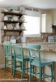 Start At Home Decor Charming Tour Turquoise Kitchen DecorTurquoise Bar StoolsBlue