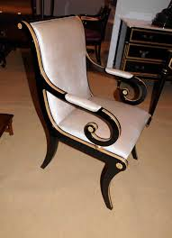 Black Writing Desk And Chair by Regency Black Lacquer Writing Desk Chair Set Ebay