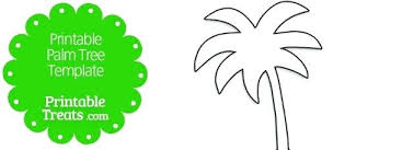 Palm Tree Cut Out Free Printable Template