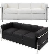 le corbusier canape leonidas 3 design canape cuir inspiré par c le corbusier
