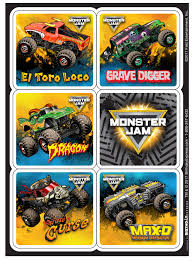 Monster Jam Sticker Sheets (4) | BirthdayExpress.com 80 Off Sale Monster Jam Straw Tags Instant Download Printable Amazoncom 36 Pack Toy Trucks Pull Back And Push Friction Jam Sticker Sheets 4 Birthdayexpresscom 3d Dinner Plates 25 Images Of Template For Cupcake Toppers Monsters Infovianet Personalised Blaze And The Monster Machines 75 6 X 2 Round Truck Edible Cake Topper Frosting 14 Sheet Pieces Birthday Party Criolla Brithday Wedding Printables Inofations For Your Design Pin The Tire On Party Game Instant