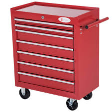 DURHAND Roller Tool Cabinet Storage Chest Box 7 Drawers Roll Wheels ...