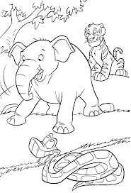 Cartoon Jungle Animals Coloring Pages Free Scenes Ideas And Printable