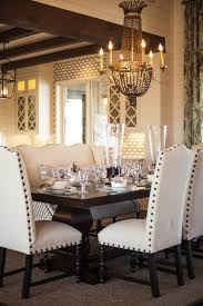 Love This Dining Table With The Nailhead Chairs Different Fabric For