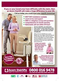 Acorn Chair Lift Commercial by Acorn Stairlifts Free Home Visit Simply Call 0800 016 9478