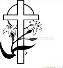 Anity Cross Easter U28864348 Coloring Page