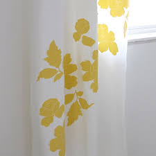 Yellow And White Curtains For Nursery by Stylish Yellow White Curtains Ideas With Yellow And White Curtains