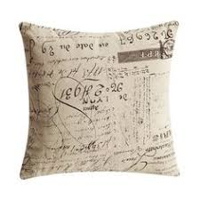 French Script Chair Cushions by Pillow Throw Pillow Cover One French Pillows Paris Decorative