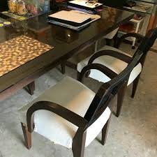 Preloved Designer Dining Table Set 6 Chairs Without Arm Rest And 2