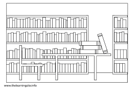 Library Coloring Page 19 Colouring Pages