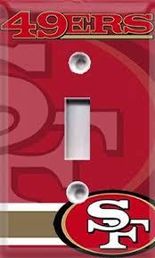 Football San Francisco 49ers Single Light Switch Cover Room Decor