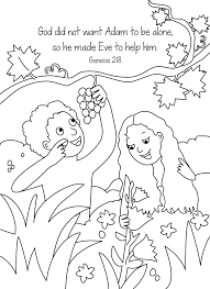 Adam And Eve Bible Coloring