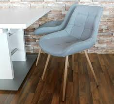 esszimmer stuhl skandinavischer style grau stoff sonoma eiche neu