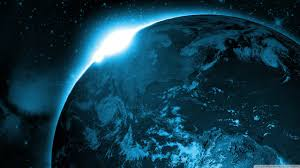 Space Wallpaper Hd Blue Earth