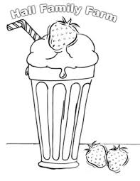 Milkshake For Colouring Clipart Pages