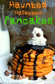 Pumpkin Pancakes W Bisquick by Haunted Halloween Pancakes Southern Made Simple