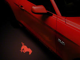 american graphics mustang side view mirror puddle l lens
