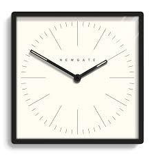 A Contemporary Square Wall Clock With Matte Case And Modern Graphic DialGBP140 45