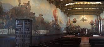 Santa Barbara County Courthouse Mural Room by The Historic Santa Barbara Courthouse By Ventura County Criminal