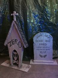 Nightmare Before Christmas Halloween Decorations Diy by Zero U0027s Tombstone And Good Old Fred Inspired By Disney U0027s Haunted