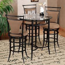 Amazing Bistro Tables And Chairs Glass Round Table Top Black Metal ...