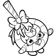 Lollipop Shopkin Free Coloring Page O Kids Shopkins Pages