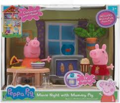 peppa wohnzimmer spielsets mit 2 figuren und zubehör
