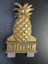 Pineapple Wel e Door Knocker Topper Sold out DK 4