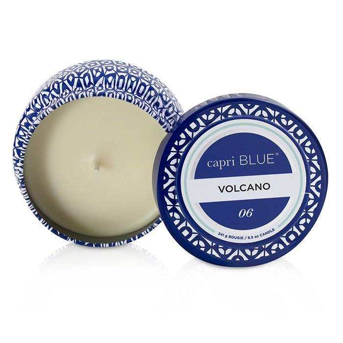 Capri Blue Aspen Bay Volcano Printed Travel Tin Candle