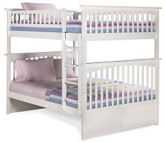 Amazon Columbia Bunk Bed Full Over Full White Kitchen & Dining