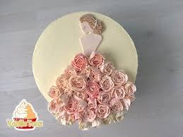 Bridal shower Torte Hochzeitstorte Brautkleid