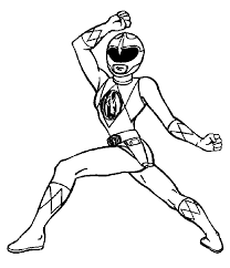 Coloring Page Power Rangers Superheroes 24