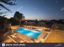 100 Kd Pool Luxury Swimming Pool Area At Night View From The Above There Is A