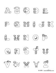Gift Christmas Alphabet Letters Santa Claus Letter Coloring Page